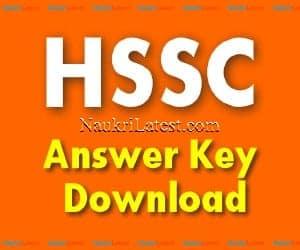 HSSC Answer Key Download